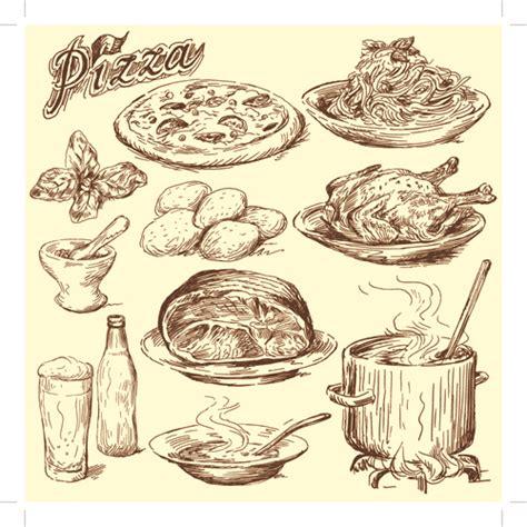 food drawings free drawing foods retro illustrations vector 04 vector food