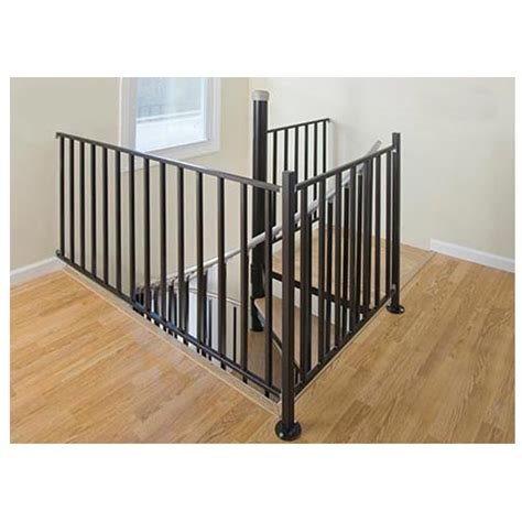 stair banister kit shop the iron shop ontario 3 ft gray painted wrought iron