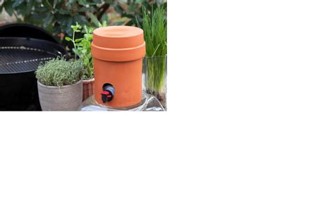 Cooler Box 3 Liter bib cooler ronde terracotta pot met deksel voor bag in