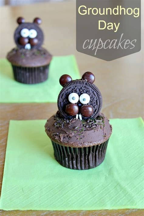 groundhog day decorations pin and save for later groundhog day cupcakes and more