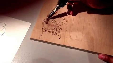 Pyrography using a dremel 2000 versatip outlined of letter roughed in wood burn letters youtube