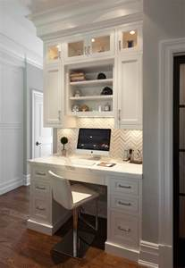 design home office using kitchen cabinets built in kitchen desk design decor photos pictures