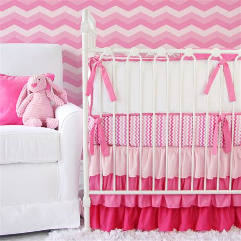 pink chevron baby bedding giveaway caden lane crib bedding set project nursery