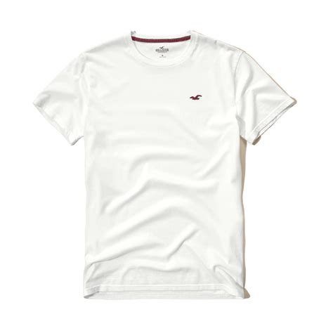 hollister crew t shirt in white for lyst