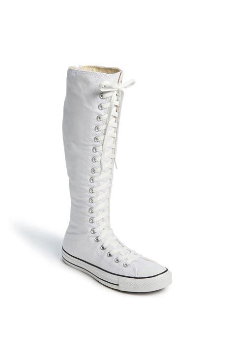 converse chuck knee high sneaker converse chuck 174 xx hi knee high sneaker in white lyst