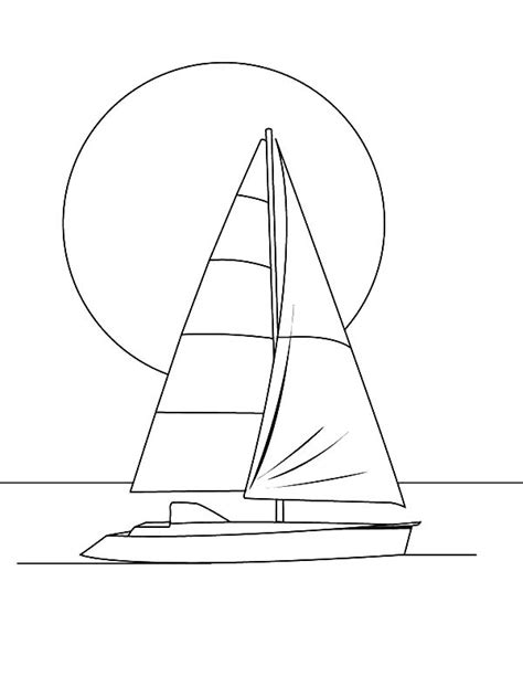 Sailboat Outline by Sailboat Outline Page Coloring Pages