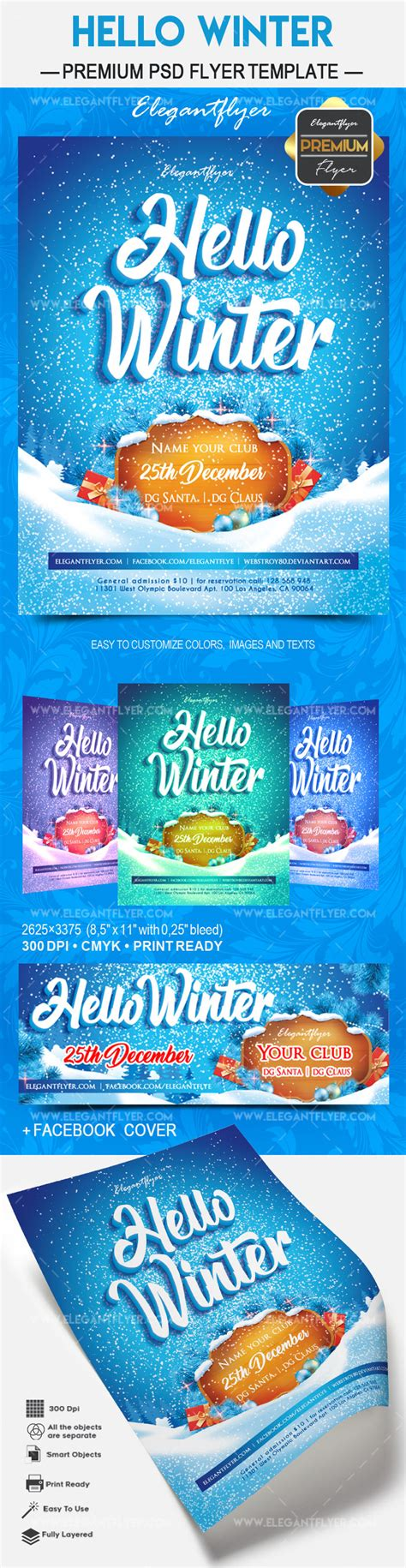 Hello Winter 2018 Flyer Psd Template By Elegantflyer Ad Template 2018