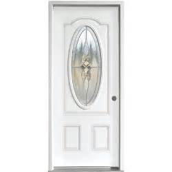 Glass Inserts For Exterior Doors 36 Quot Exterior Steel Door Unit With Decorative Glass Insert Bargain Outlet