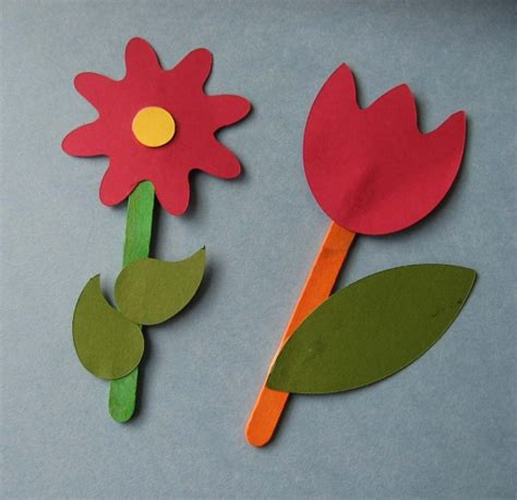 Paper Cutting Flowers Crafts - toddler craft paper flowers busy s