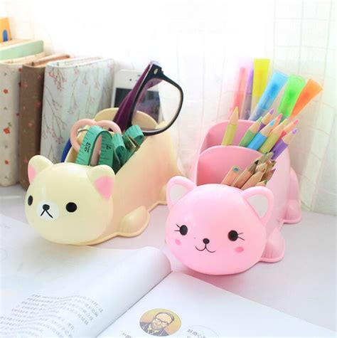 Hot Cute Cartoon Desk Organizer Desk Accessories Organizer Pretty Desk Organizers