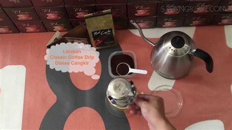 Alat Kopi Master A Dripper tutorial classic coffee drip