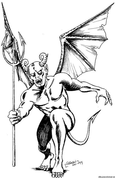 imagenes de angeles y demonios para dibujar a lapiz demonios