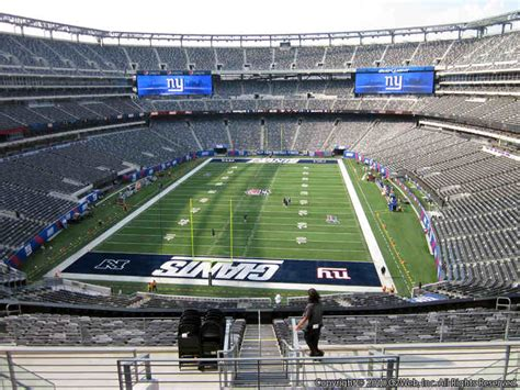 metlife stadium section 225b giants jets rateyourseats com