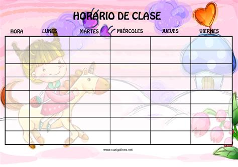 Calendario F Colegios Todo Para El Colegio Horarios De Clases Horarios