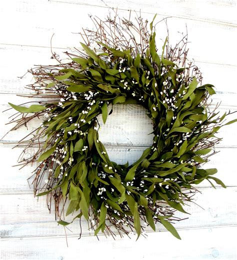 Christmas Decorations Made From Twigs Christmas Wreath Farmhouse Wreath Rustic Twig Wreath Winter