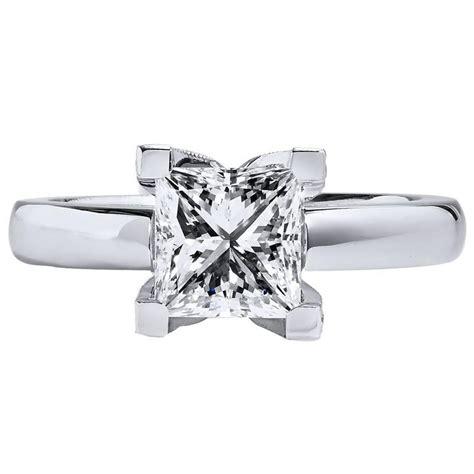 princess cut 1 70 carat platinum engagement ring