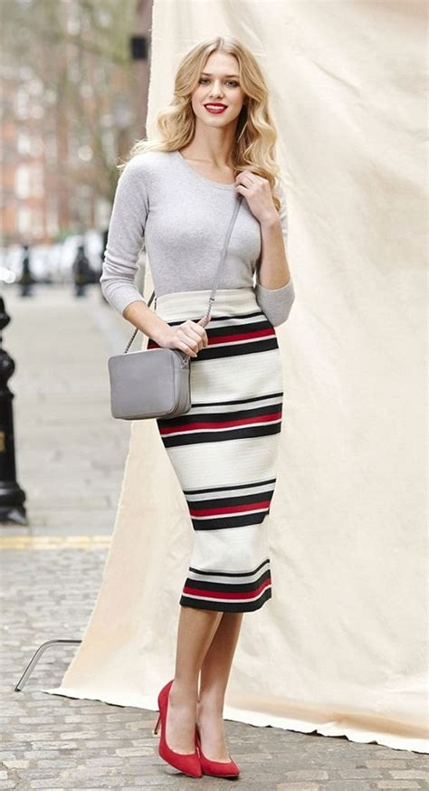 how to style tea length pencil skirts 2018 fashiontasty