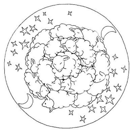 counting sheep coloring page mandalas sheep this would be a great painting idea for