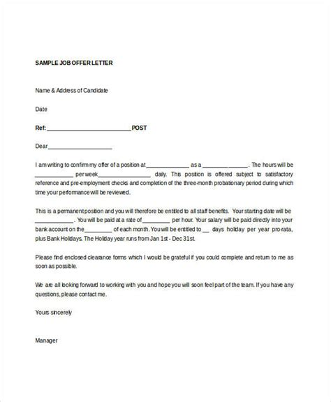 appointment letter for doc offer letter templates in doc 50 free word pdf