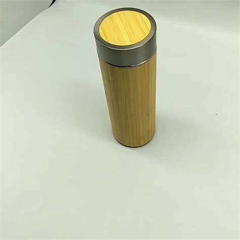 Wall Infuser Bottle Bamboo bamboo tea infuser 15oz tumbler bottle insulated