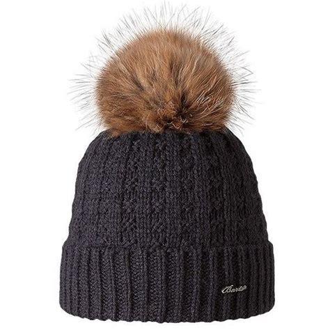 barts filippa beanie bobble hat real fur bobble
