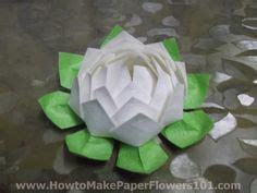 How To Make Paper Lotus Flower - 1000 images about birthday decorations on
