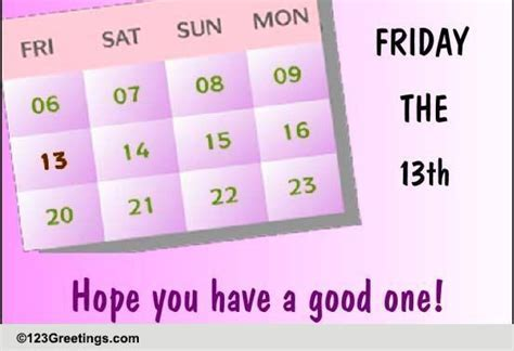 Wishing Good Luck On Friday The 13th! Free Friday the 13th