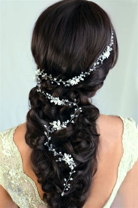 hairstyles with hair vines 32 beautiful and refined bridal hair vine ideas