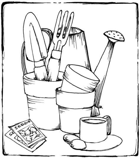 garden shovel coloring page printable garden tools coloring pages coloring page