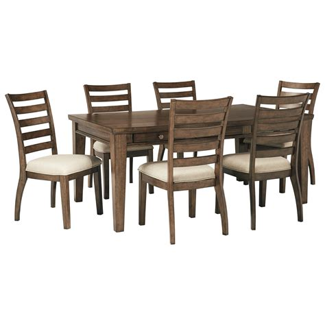 signature dining table and chairs signature design flynnter 7 storage table and