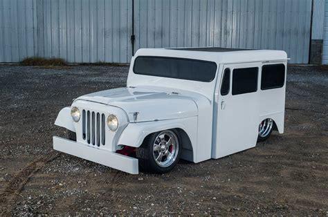 postal jeep rod 1972 jeep postal lowrider custom tuning rod rods suv