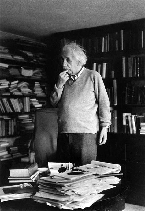 Albert Einstein Desk by Ernst Haas Albert Einstein Princeton Nj 1951 Ernst
