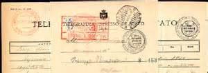 ufficio telegrammi telegramma espresso di servizio storia postale