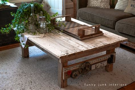 Pallet Wood Coffee Table My New Junk Styled Pallet Wood Coffee Table Funky Junk Interiorsfunky Junk Interiors
