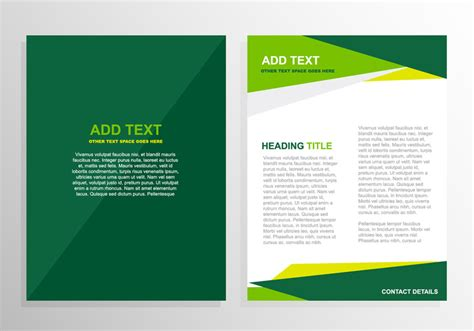 design template green brochure template design welovesolo