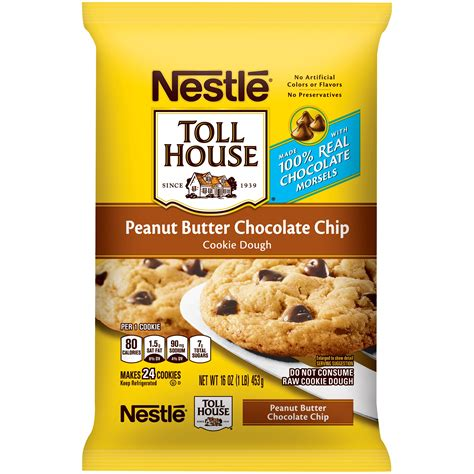 nestle toll house cookie dough nestle peanut butter chocolate chip cookies