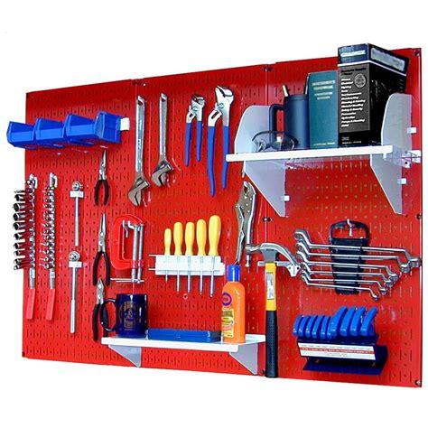 Kitchen Cabinet Organizer Racks wall control 32 in x 48 in metal pegboard standard tool