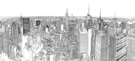 Sketches Nyc by Sketching Manhattan Broadsheet Ie