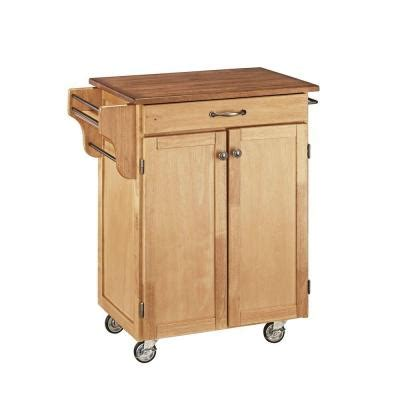 Home Depot Kitchen Carts by Home Styles Kitchen Cart In Wood With Stainless