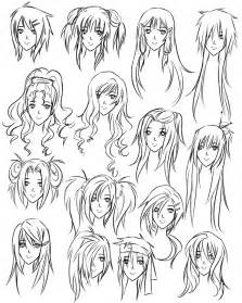 names of anime inspired hair styles drawing girl hair styles how to draw hairstyles for
