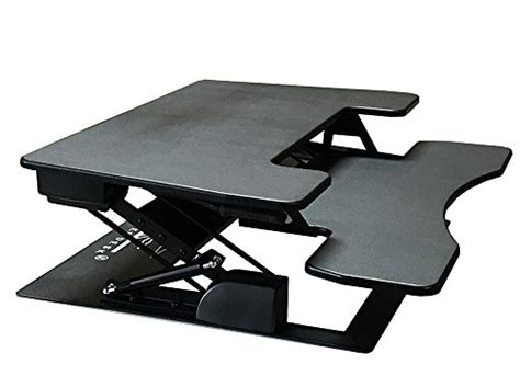 fancierstudio riser desk standing desk extra wide 38 quot fits