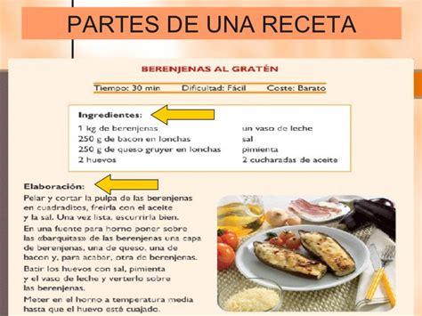 las recetas de las textos no literarios2012