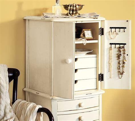 pottery barn jewelry armoire pottery barn charlotte jewelry armoire organizing