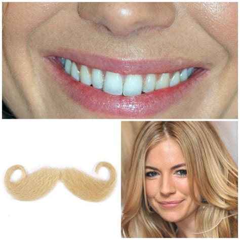 does sienna miller have a hairy face the foundation moustache facial hair that s invisible