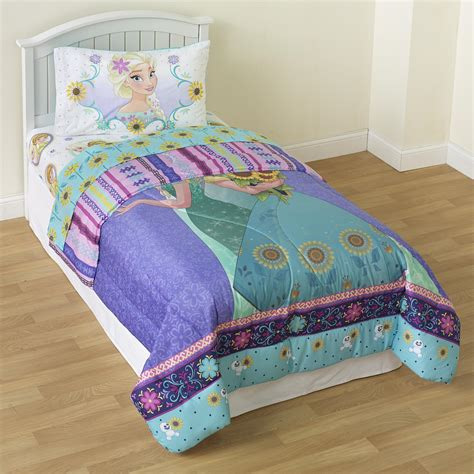 frozen twin comforter set disney frozen sunshine fever twin comforter elsa anna