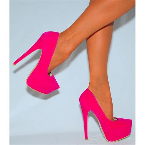 pink high heel fuchsia pink faux suede slip on stiletto high heel