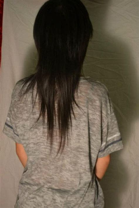 long scene hair back view long scene hair back view asian mullet and mullets on