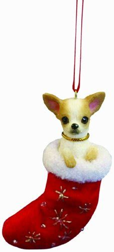 chihuahua christmas stocking ornament with quot santa s little
