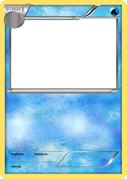 Legendary Card Template Png by Bw Water Stage 1 Card Blank By The Ketchi On