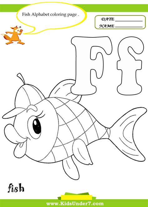 Alphabet Tracing Letter F Coloring Pages F Is For Fish Coloring Page 2